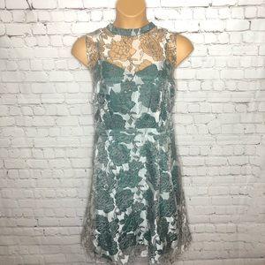 Lace & Mesh Dress